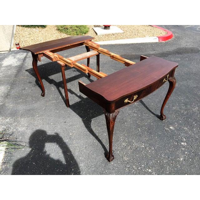 Mahogany & Leather Writing Desk - Image 6 of 9