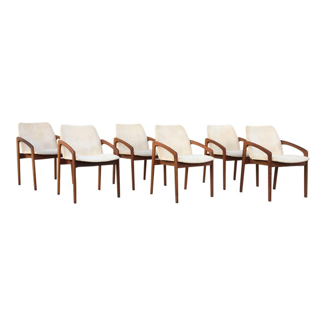Kai Kristiansen for Korup Stolefabrik Mid-Century Modern Carver Rosewood Dining Chairs - Set of 6 For Sale