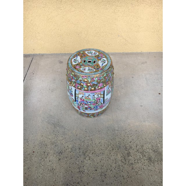 Late 20th Century Contemporary Chinoiserie Garden Stool For Sale - Image 5 of 12