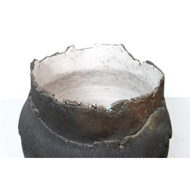 1980s Large Raku Vessel by Dieter Balzer For Sale - Image 5 of 11