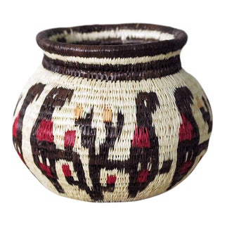 Tribal Figurative Wounaan Basket For Sale