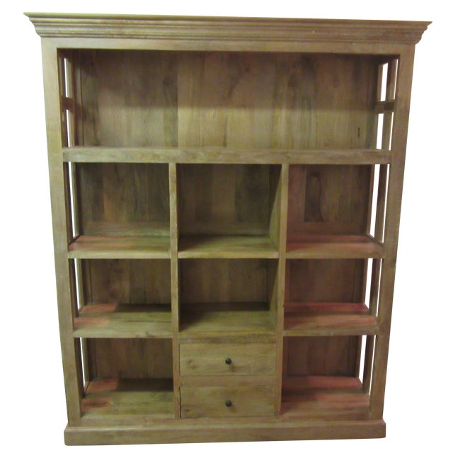 Large French Country Open-Front Cupboard For Sale