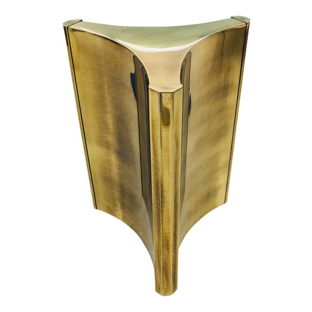 Mastercraft Brass Trilobi Dining Pedestal Table Base For Sale