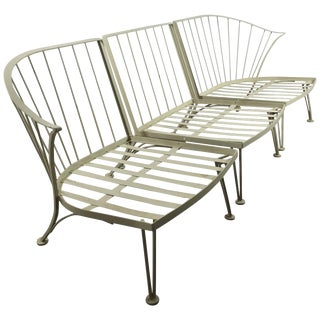 Iron Sectional Garden Sofa by Russell Woodard - 3 Pieces For Sale