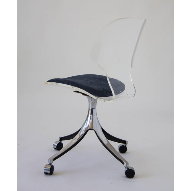 Hill Manufacturing Co. Lucite Rolling Desk Chair - Image 6 of 9