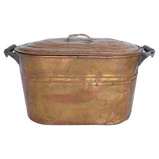 Antique Copper Boiler Basin