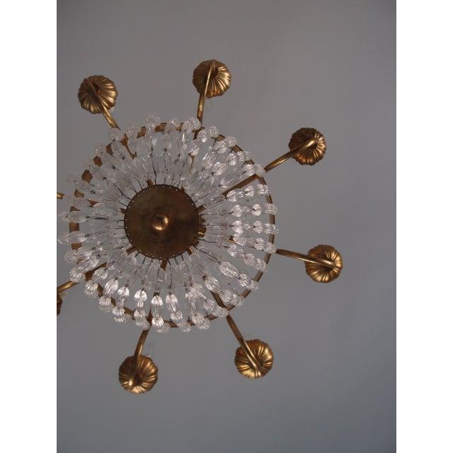 Visual Comfort Brass Chandelier - Image 6 of 7