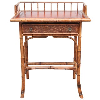 19th Century Tradiitonal English Bamboo Writing Table For Sale