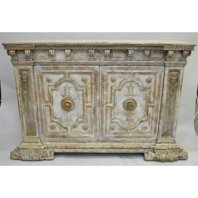 18th Century Hand Painted Italian Two Door Cupboard Gianni Versace Ex Property For Sale - Image 10 of 10