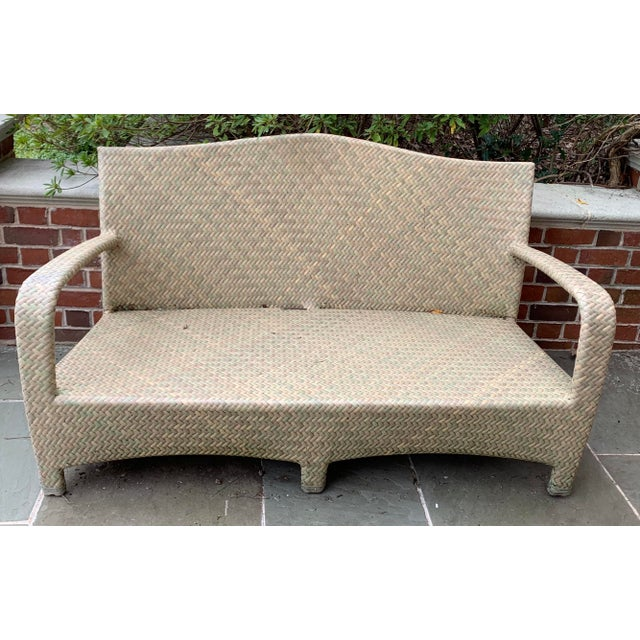 Resin Brown Jordan Havana Seagrass Loveseat For Sale - Image 7 of 7