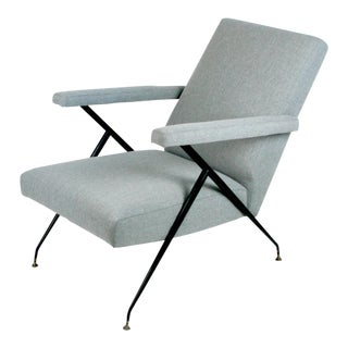 Italian Midcentury Reclinable Lounge Chair