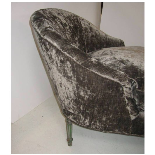 1940s Vintage Louis XV Style Chaise Longue For Sale - Image 4 of 7