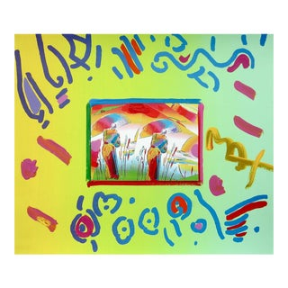 Peter Max Two Sages 1998 For Sale