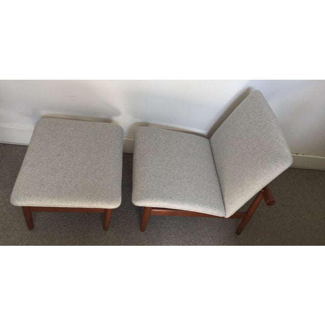 1950s Vintage Finn Juhl Japan Series Lounge Chair and Ottoman For Sale In San Francisco - Image 6 of 12