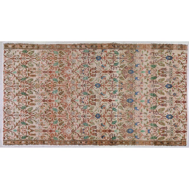 """Vintage Turkish Rug,4'7""""x7'10"""" For Sale In New York - Image 6 of 6"""
