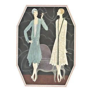 Matted Vintage Art Deco Fashion Print-Lanvin For Sale