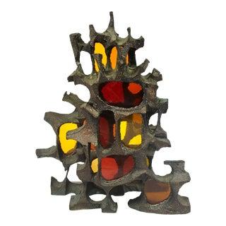 Mid-Century Modern Brutalist Bronze Sculpture For Sale