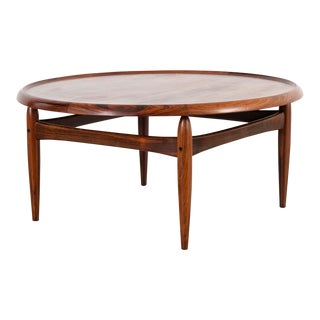 Kurt Ostervig Mid-Century Modern Rosewood Coffee Table For Sale