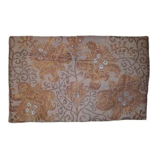Bocca Di Leone Sateen Linen Pillow Cover For Sale