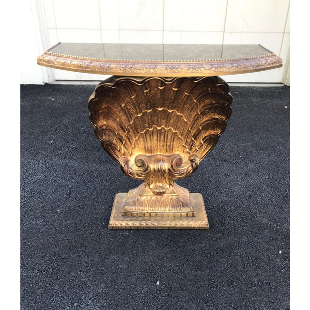 Vintage Grosfeld House Shell Console Table For Sale In Chicago - Image 6 of 12