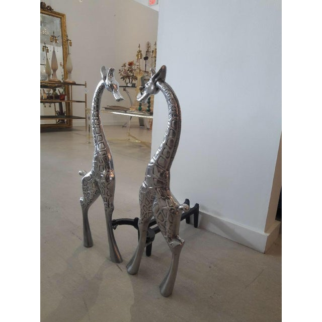 Pair of Giraffe Andirons by Arthur Court For Sale - Image 9 of 11
