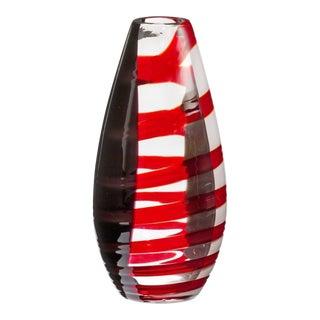 Carlo Moretti Novel Mouth Blown Murano Glass Vase For Sale