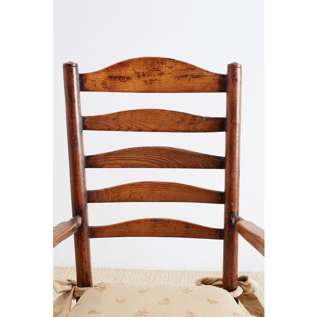 19th Century English Ladder Back Chair For Sale - Image 4 of 13