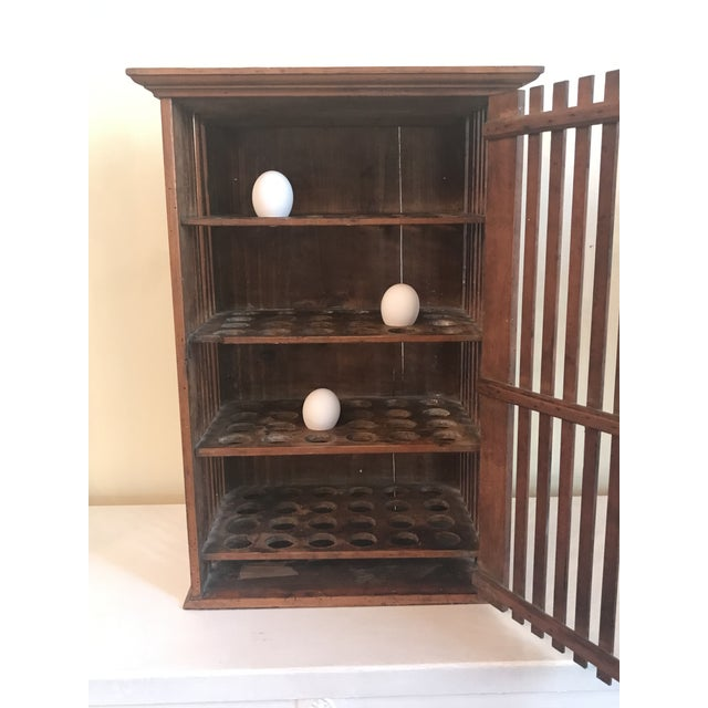 1930s 1930s French Walnut Egg Wall Cabinet For Sale - Image 5 of 12
