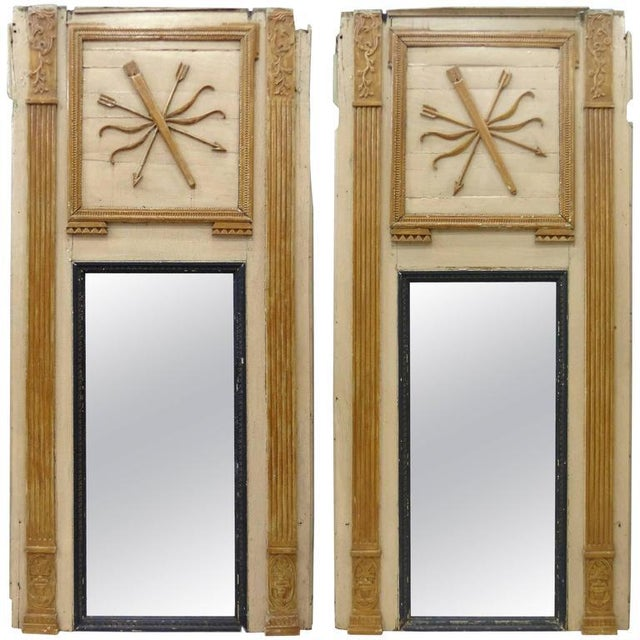 18th Century Boiserie Panels Mounted as Trumeau Mirrors - A Pair For Sale - Image 11 of 11