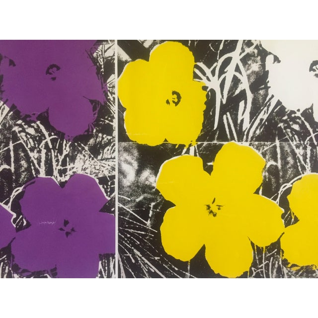 """Paper Andy Warhol Foundation Vintage Pop Art Poster Print """" Flowers """" 1964 / 1967 For Sale - Image 7 of 13"""