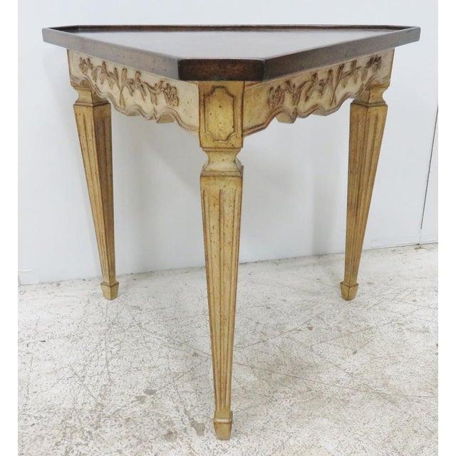 Italian Corner Table W/ Floral Motif - Image 6 of 6