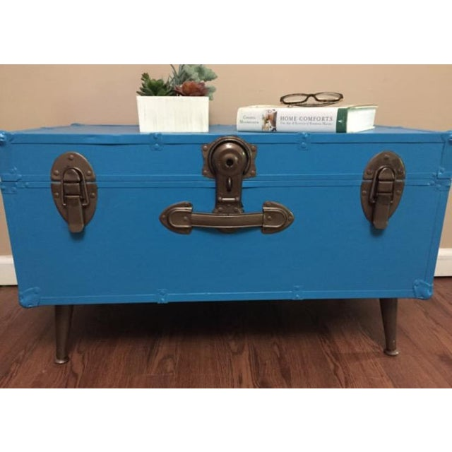 Blue Steamer Trunk Table - Image 5 of 6