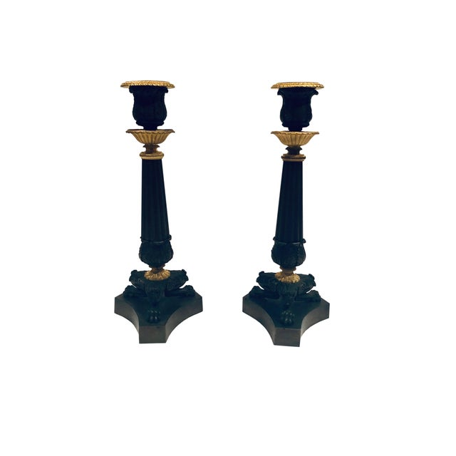19th Century French Empire Candlesticks- a Pair For Sale - Image 4 of 4