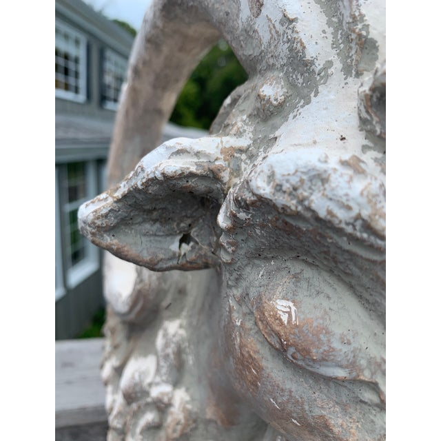 Ceramic Terracotta Sculpture of Billy Goat Ram For Sale - Image 7 of 13