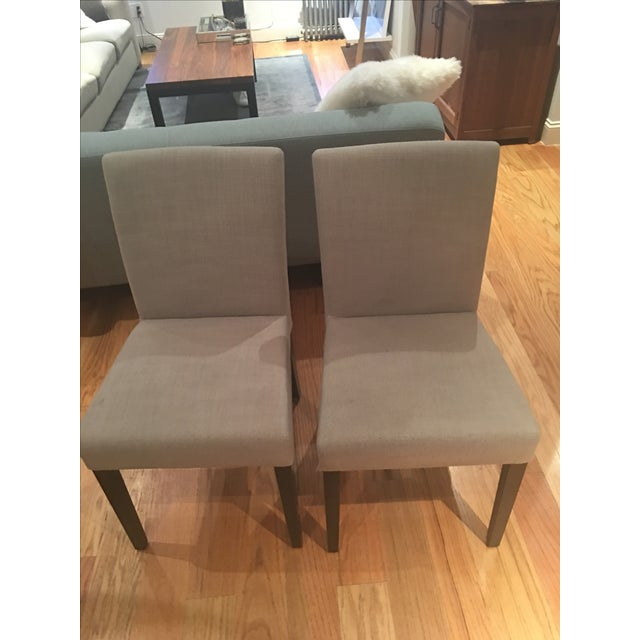 Crate & Barrel Lowe Upholstered Chairs - Pair - Image 2 of 4