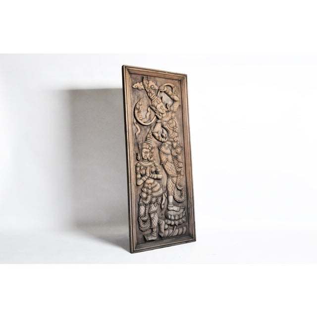 Asian Southeast Asian Wood Carving of a Goddess For Sale - Image 3 of 13