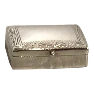 Vintage Sterling Silver Pill Box For Sale