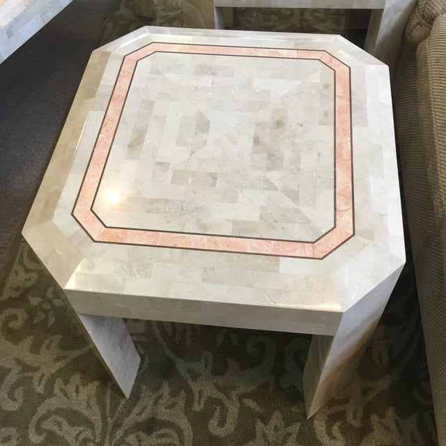 Tessellated Fossil Coral Cocktail & End Tables - Set of 3 For Sale In West Palm - Image 6 of 10