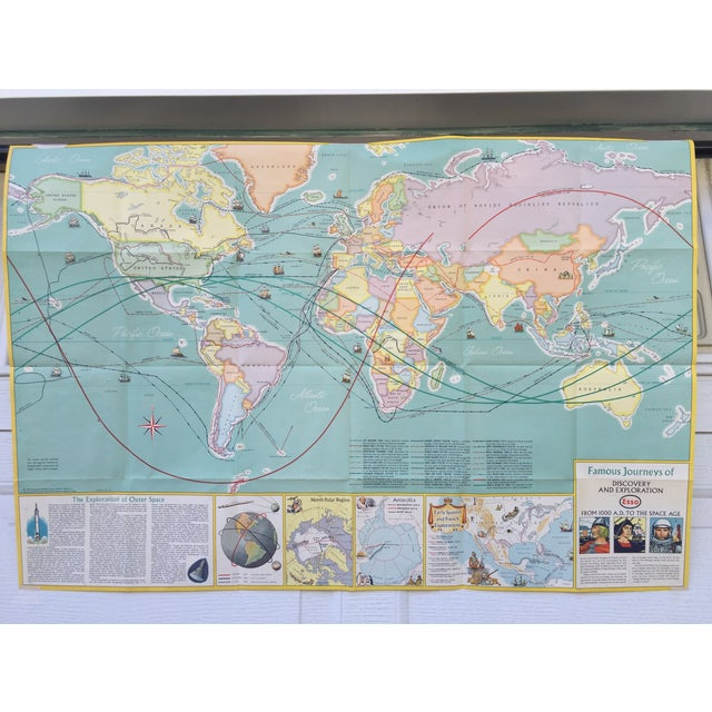 Vintage Map Journeys of Discovery and Exploration - Image 7 of 9