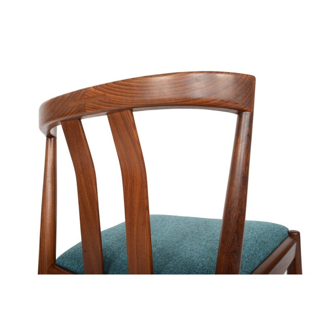 Danish Modern Curved Back Teak Dining Chairs - Set of 6 - Image 9 of 10