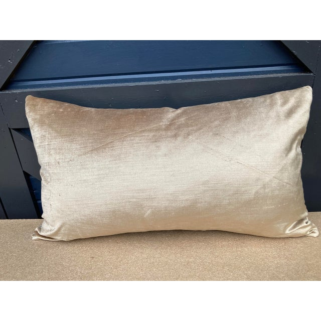 Traditional Aqua Fortuny Tapa Pillow For Sale - Image 3 of 5