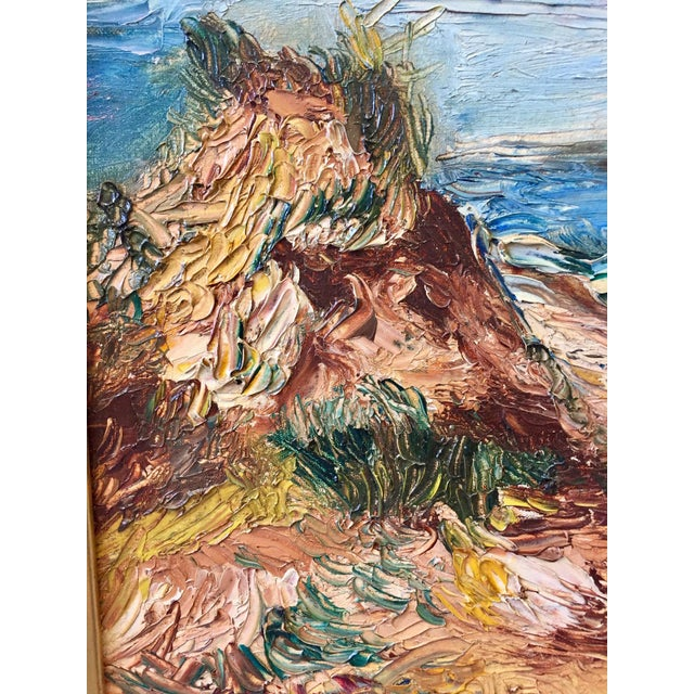 "1963 Vintage Original ""Fire Island"" Painting For Sale In West Palm - Image 6 of 9"