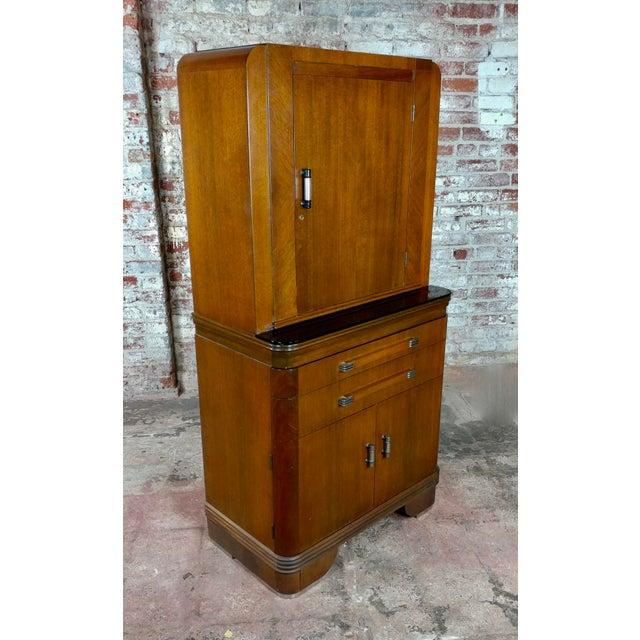 Art Deco Original 1930s Walnut Dental Cabinet For Sale - Image 10 of 10
