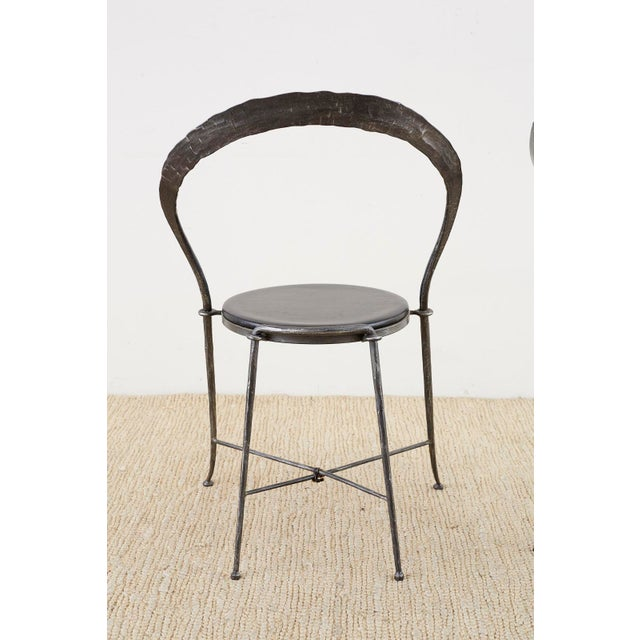 Pair of Giovanni Banci Midcentury Sculptural Iron Chairs For Sale - Image 12 of 13