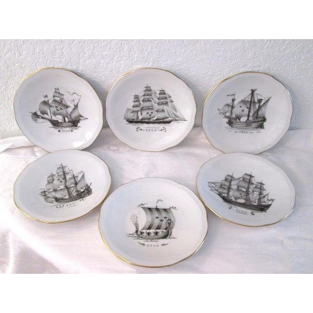Vintage Rorstrand Sverige Clipper Ship Plates Set Of 6 Chairish