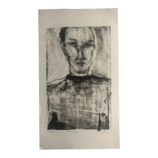 """""""Franzini"""" Lithograph by Dellas Henke, 1979 For Sale"""
