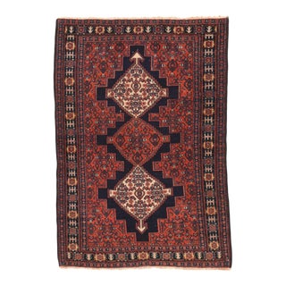 Antique Hand Made Senneh Persian Rug For Sale
