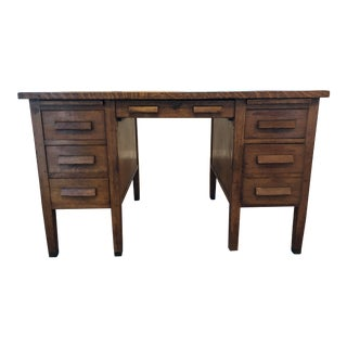 Antique Globe Wernicke Oak Desk For Sale