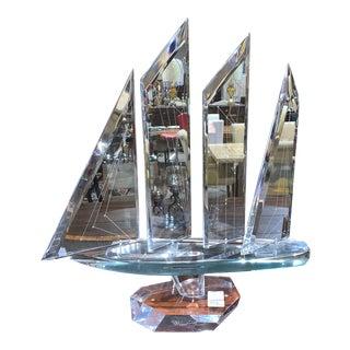 Decorative Lucite Ship For Sale