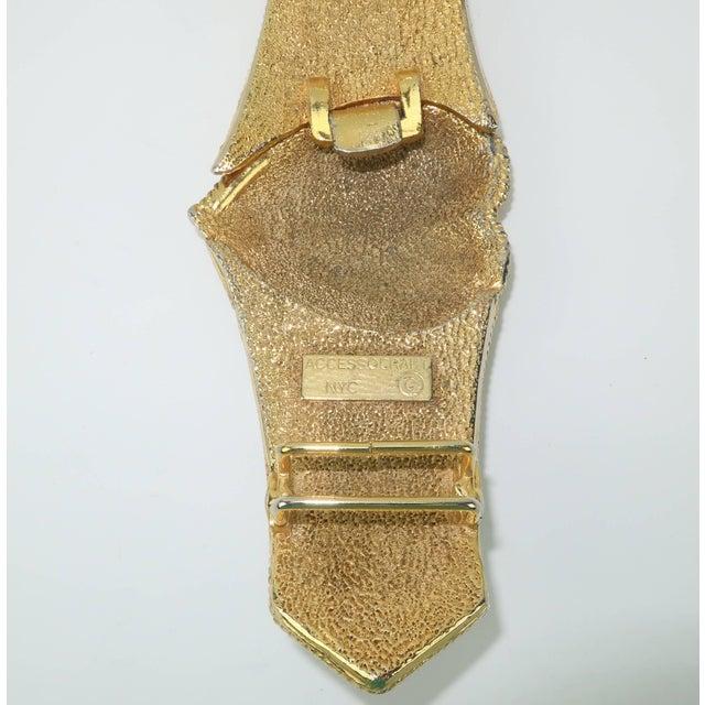 Vintage Accessocraft Nyc Ornate Heart Buckle & Belt For Sale - Image 9 of 11